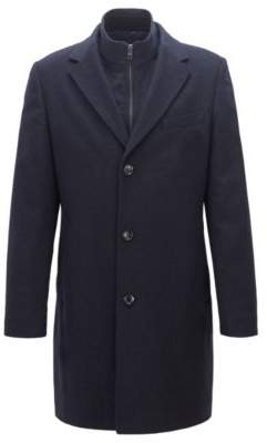 Wool-cashmere coat with removable inner jacket