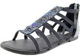 Not Rated Crystalyn Open Toe Canvas Gladiator Sandal.