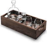 LSA International Whisky Islay Connoisseur Set With Walnut Tray