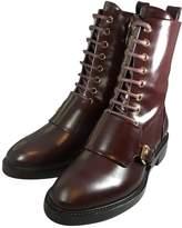 Louis Vuitton Wonderland Burgundy Leather Ankle boots