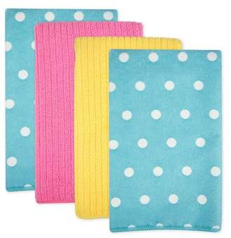 Design Imports 4pk Polyester Microfiber Dotted Dishtowels