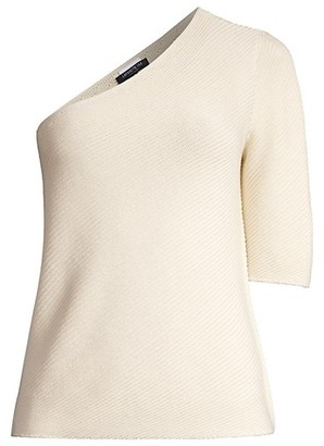 Lafayette 148 New York One-Shoulder Asymmetrical Top