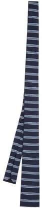 Prada Striped Silk Blend Tie - Mens - Blue Multi