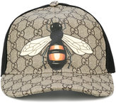 Gucci bee print GG Supreme baseball cap - men - Cotton/Polyamide/Polyester/Polyurethane - XL