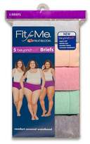 Fit for Me by Fruit of the Loom Fit for Me® by Fruit of the Loom® Women's Beyondsoft Briefs 5-Pack - Multi-Colored