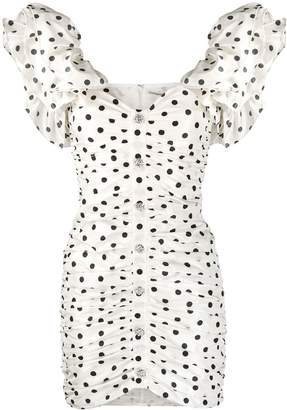 Alessandra Rich ruffled polka dot dress
