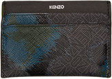 Kenzo Black Leopard Card Holder