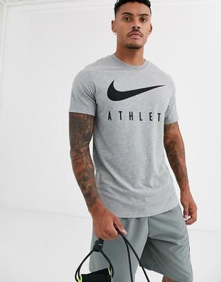 Nike Training Athlete t-shirt in grey