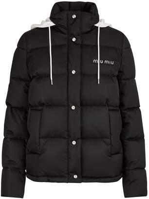 Miu Miu Logo down jacket