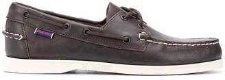Sebago lace-detail boat shoes