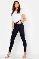 boohoo Mid Rise Butt Shaper Skinny Jeans