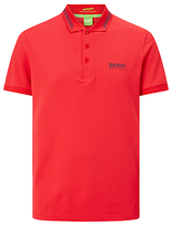 Hugo Boss Boss Green Pro Golf Paule Pro 1 Stripe Collar Polo Shirt, Open Red