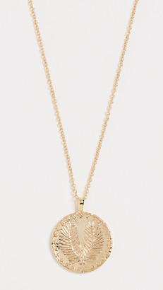 Gorjana Palm Coin Necklace