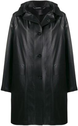 Kassl Editions Leather-Effect Raincoat