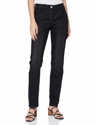 Cecil Women's 373631 Style Scarlett Slim Fit Coated Jeans