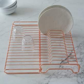 west elm Copper Wire Kitchen Foldable Dish Rack