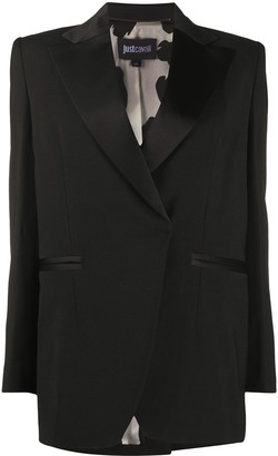 Just Cavalli Fitted Single Breasted Blazer