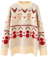 Goodnight Macaroon 'Snowman' Christmas Pattern Sweater (2 Colors)
