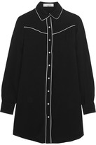 Valentino Silk Crepe De Chine Shirt - Black