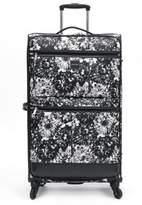 Isaac Mizrahi Boldon 29-Inch Spinner Suitcase in Black/White