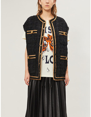 Gucci Graphic-print boat-neck cotton-jersey T-shirt
