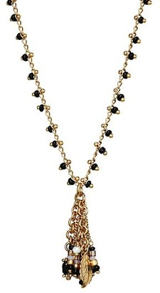 Gas Bijoux Gipsette 24K Goldplated & Glass Bead Necklace