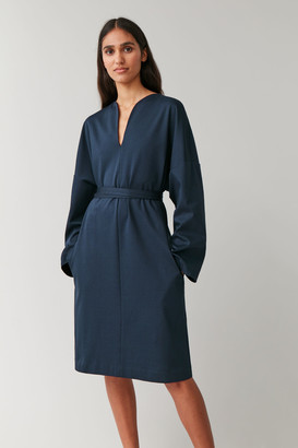Cos Tie-Belt Kaftan Dress