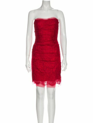 Dolce & Gabbana Strapless Mini Dress Red