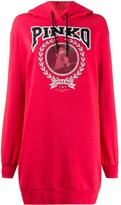 Pinko logo print hoodie