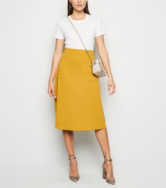 New Look JDY Pocket Front Midi Skirt