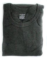 Alfani Men's Thermal Knit Waffle Crew Neck Shirt-XXL