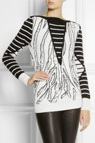 McQ by Alexander McQueen Intarsia wool, cotton and cashmere-blend sweater