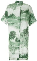 OSKLEN RJ print shirt dress