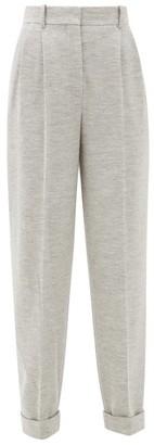 Roksanda Venezio Wool-jersey Pleated Trousers - Womens - Grey