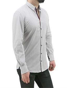 Daniel Hechter Shirt With Maroon Circular Print