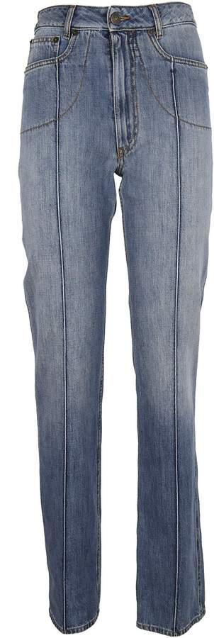 Maison Margiela Stripe Detail Straight Leg Jeans