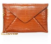 Michael Kors Nile Crocodile Envelope Clutch