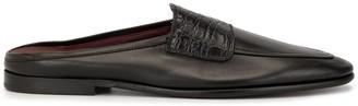 Dolce & Gabbana Crocodile Effect Panel Slippers