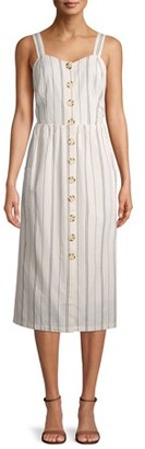 Time and Tru Women's Button Front Dress