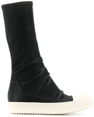 Rick Owens slouch style sneaker boots