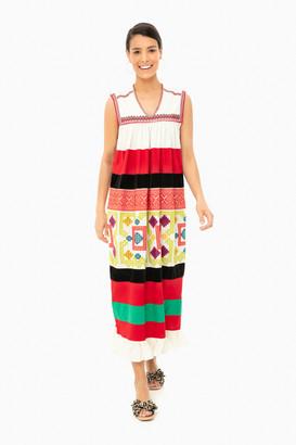 Roseanna Ecru Embroidered Robe Dress