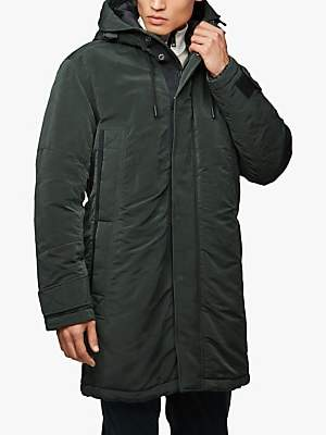 HUGO BOSS BOSS Onorth Waxed PrimaLoft Insulated Parka Jacket, Open Green