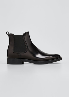 Tod's Gored Leather Chelsea Ankle Booties