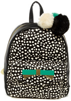 Betsey Johnson Front Pocket Faux Leather Backpack