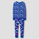Girls' Cotton Pajama Set Cat & Jack - Blue Floral