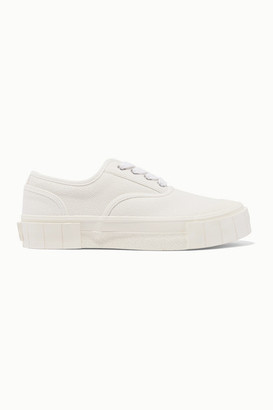 Good News + Net Sustain Organic Cotton-canvas Sneakers - White