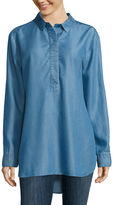 Liz Claiborne Long-Sleeve Popover Tunic