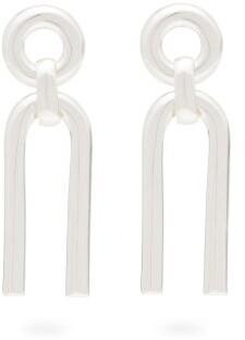 Alta Ora - Small Arc Sterling-silver Drop Earrings - Silver