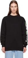 Off-White Black Oversized Othelo Flower Sweatshirt
