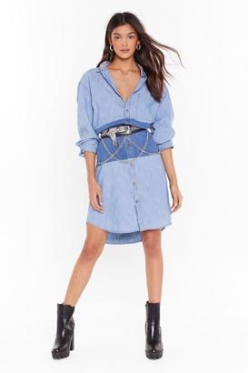 Nasty Gal Womens Vintage Have You Jean Her Denim Dress - blue - S/M